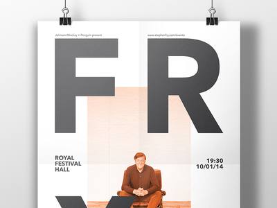 FRY creative print design minimal tinj fry stephen stephen fry design print poster