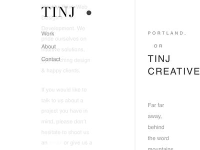 Coming soon creative tinj oregon portland design minimal development website new