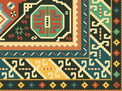 Persian Rug oregon portland creative tinj design illustration