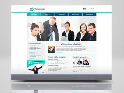 Site for Reimer Improve sitedesigner yoursite corporatestyle branding identity graphicdesigner webdesigner graphicdesign design site web webdesign