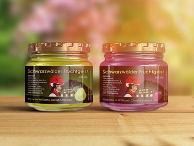 Package Label for Schwarzwälder Fruchtgeist