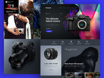 Panasonic Lumix Cameras cameras homepage redesign layout lumix panasonic photo