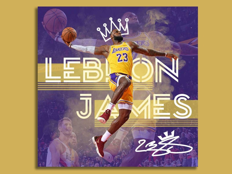 LeBron James Poster illustration photoshop poster design