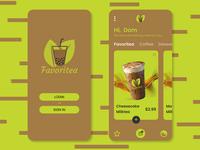 Favoritea logo food delivery app figma app ui design