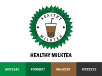 Healthy Milktea Logo ui branding logo illustration design