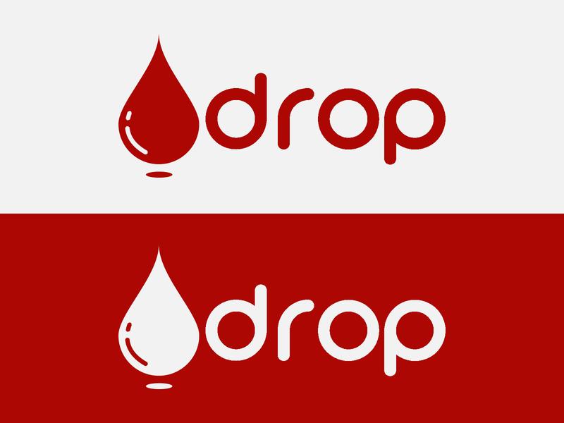 Logo 2 blood drop design logo