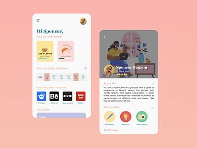 Daily UI - 006 - User Profile ui appdesign uidesign figma design daily ui
