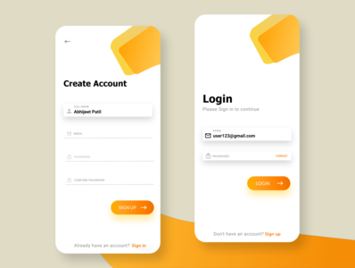 Login Page UI Design for android app designer yellow app design login design login screen logos logotype login page design uiux typography logo branding design fashion shop app ui design web ui uidesign login page login page ui app