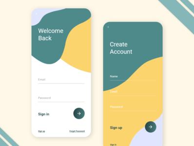 Login screen app UI