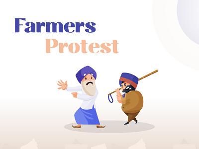 Dribbble indian culture sticker vector illustration character cartoon farmers indian farmer indian cartoon politics protest punjabi sardar indian vector farmers market farmersprotest