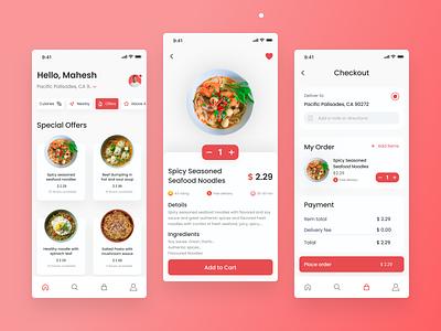 Food Delivery App ux uidesigner minimal uiux uidesign app design ui design ui