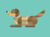Tiled Dog