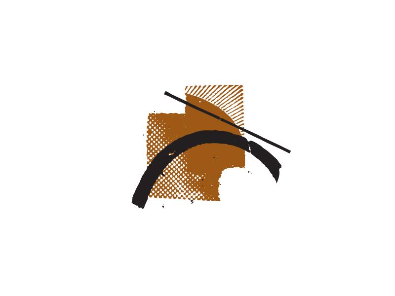 Endless Bridge halftone illustrator vector collage