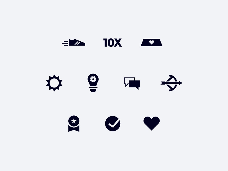 Playbook Icons illustration leadpages icons core values