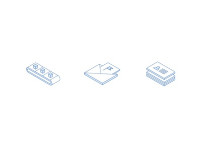 Drip Isometric Icons leadpages drip illustration icons isometric