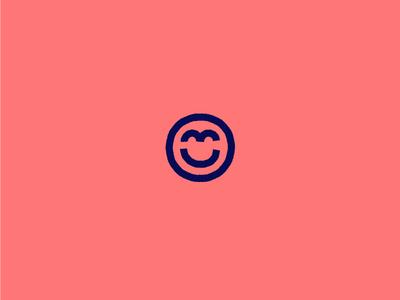 Happy Friday mark logo happy friday smile illustration