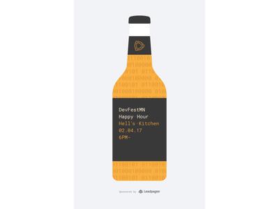 DevFestMN Flyer bottle happy hour leadpages beer flyer devfest code