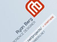 Business card draft (closeup)