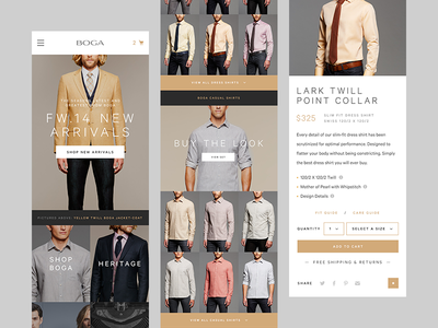BOGA responsive ecommerce web ui minimal drew rios fashion clean symmetry shop ecommerce chicago responsive mobile