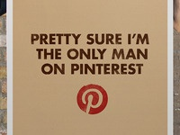 Only man on Pinterest