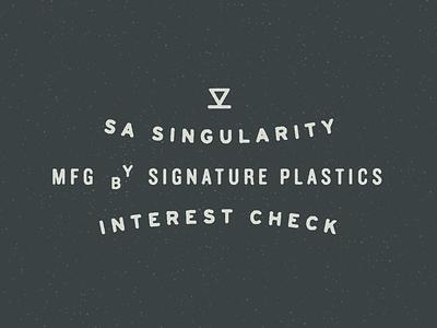 SA Singularity singularity seattle old school simple mechanical keyboards signature plastics worn vintage print logo stamp