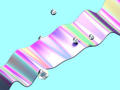 GLOSS nightcore mix 3d neon fluorescent 80s gloss iridescent nxc