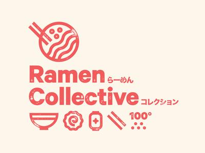 Ramen Marks #1 heavy logotype letterpress ramen japanese typography branding icon logo stamp badge mark