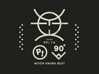 Never knows best rough heavy stamp flcl simple worn letterpress mark badge logo