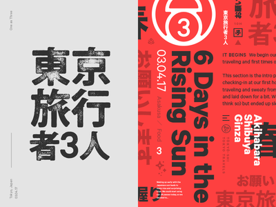 Tokyo Travelers Identity modern blog red bold graphic print identity brand tokyo japan