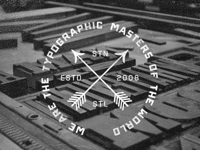 Typographic emblem dribbble