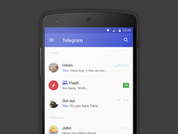 Telegram - material design