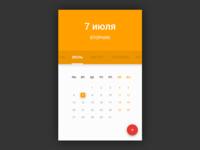 Calendar widget - Freebie