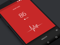 Heart rate UI (Android)