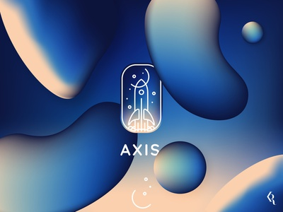 Logo Axis dailylogo dailylogochallenge space gradient design gradient color lineart gradient logo gradient logotype logodesign illustration logo branding