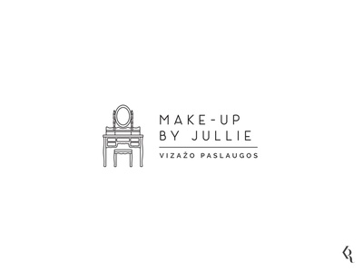 Logo for Make-up Artist lineart logoconcept dailylogo logotype illustration logodesign logo branding