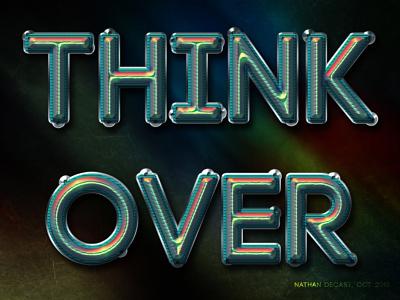 Think Over design ux ui web typography social media graphic design marketing graphic design freelance branding