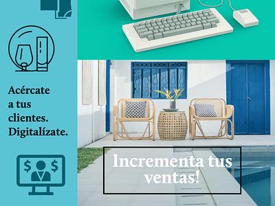 Increase your sales Spanish Market freelance marketing branding social media graphic design