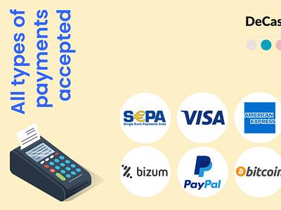 Payment types social media post bitcoin online marketing graphic design branding social media graphic design