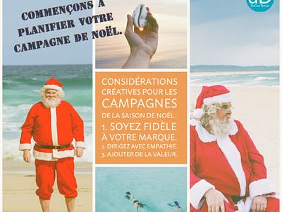 Pre Xmas summer campaign French version branding contentmanagement socialmediacontent