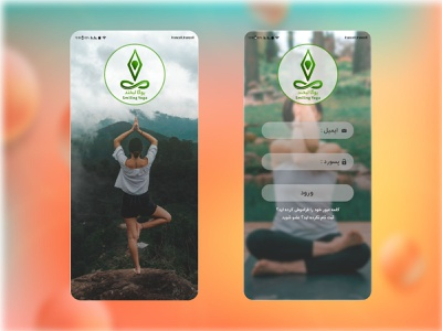 App Design Yoga uxdesign balance application mobile product design meditation graphic uiux ux ui app design icon ui web ios guide yoga webdesign app design web app