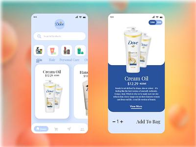 Dove Official _ Ui Design design ui art mackup mobile app design app ui designer graphic design graphic dove adobe xd web design web brand art creative uiux ux ui
