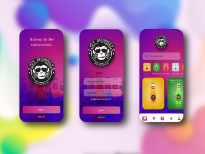 Icy Monkey Drink sketchapp illustration drink ui drink uidesign mobile creative webdesign web uikit uikits art design ux ux  ui ui application ui app design app