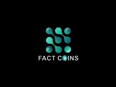 FACT COINS LOGO coin logo gradient logo gradient graphic design logos sketch logo branding illustration illustrator monogram logotype art color bitcoin coin graphic brand creative logo design logo