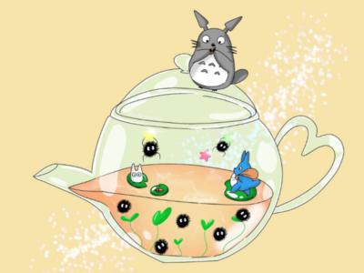 Totoro fanart procreate digitalart illustration