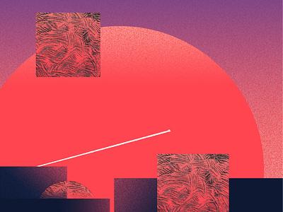 Future arthop illustration print painting geometric art spaceman spaceship flatstyle futurewave dramatic planet 2d modern photoshop illustrator pattern texture space sunrise future