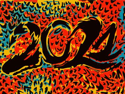 Abstract art illustration 2021 tattoo contrast style card 2021 vector illustration tattoo future red year illustration texture popular pattern poster modern art 2d abstract design flat style vector painting comics pop art
