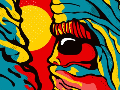 Alpini illustration colorful comics style poster illustrator comics painting vector flat style print design abstract art ink 2d modern pattern texture mountain alpinism sunglasses red sun tattoo design print