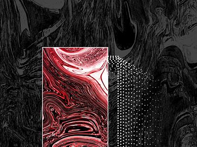 Spectator glass futuristic waveform liquid red dark abstract dots future wave 2d vector flat style digital detail digital art illustration print illustrator poster
