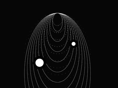 Necklace   Darkness illustration concept dark theme dark mode circle black details composition art ink abstract flat style vector digital digital art print illustration poster dots lines dark