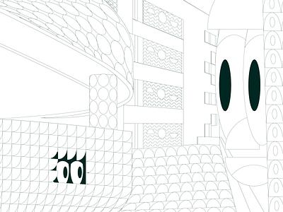 Treasure hunt acid illustration acid poster vector cyberpunk color detail digital illustration illustrator flat design gradient mushrooms lsd geometric space pattern modern composition digital art 2d
